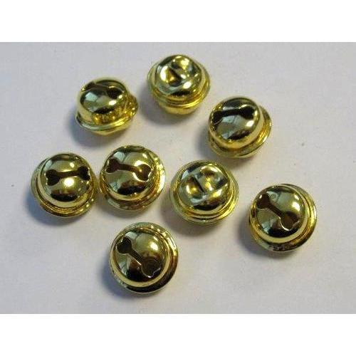 1 ST (1ST) Kattebelletjes goudkleur 15 mm 8 ST