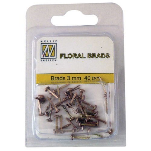 Nellie`s Choice  Glitter brads goud 40 ST 3mm FLP-GB012