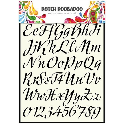 Dutch Doobadoo Dutch Stencil Art A4 Alphabet 3   A4 470.455.004  (new 05-2015)