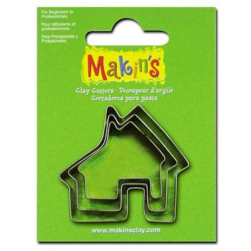 1 ST (1ST) Uitsteekvorm set huis ca. 2 - 4 cm
