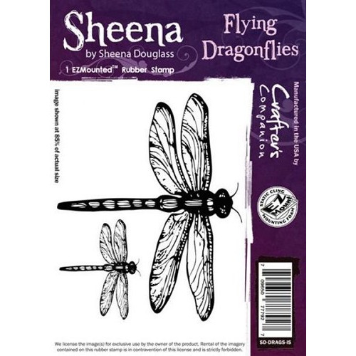 Sheena Flying Dragonflies Cling Stamp (SD-DRAGS-IS)