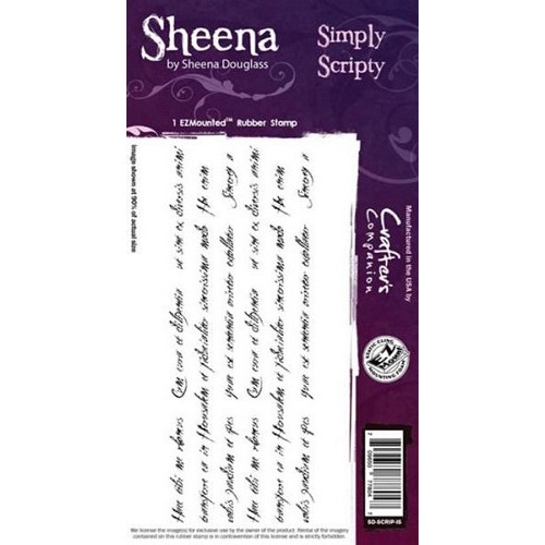 Sheena Simply Scripty Cling Stamp (SD-SCRIP-IS)