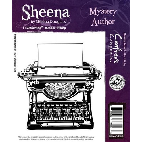 Sheena Mystery Author Cling Stamp (SD-MATHER-IS)