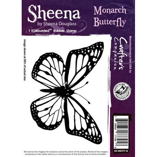 Sheena Monarch Butterfly Cling Stamp (SD-MBTFY-IS)