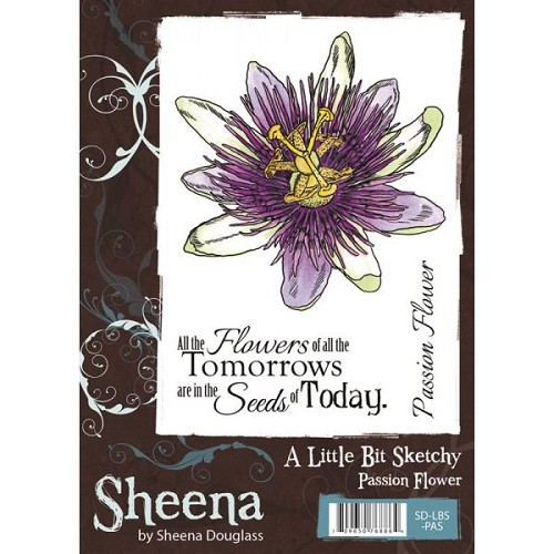 Sheena Douglass A Little Bit Sketchy A6 Stamp Set - Passion Flower