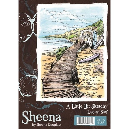 Sheena Douglass A Little Bit Sketchy A6 Stamp Set - Laguna Surf