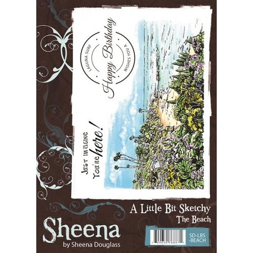 Sheena Douglass A Little Bit Sketchy A6 Stamp Set - The Beach