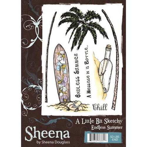 Sheena Douglass A Little Bit Sketchy A6 Stamp Set - Endless Summer