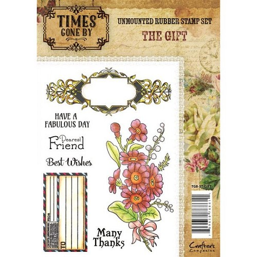 Crafters Companion Times Gone By Rubber Stamp - The Gift (A6 Stamp Set)