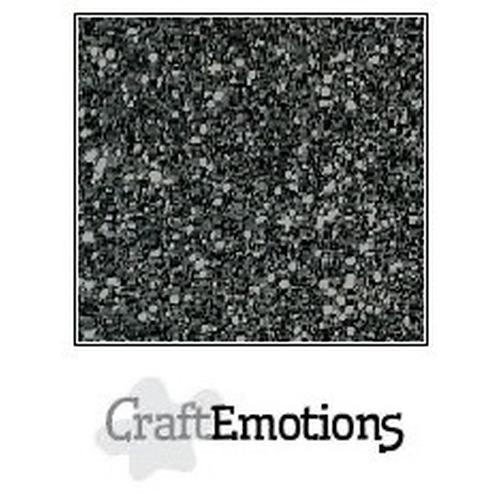 CraftEmotions glitterpapier 5 vel zwart 29x21cm 120gr