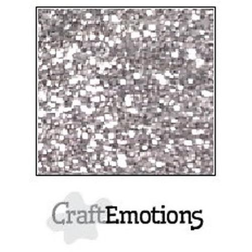 CraftEmotions glitterpapier 5 vel zilver 29x21cm 120gr