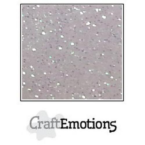 CraftEmotions glitterpapier 5 vel wit 29x21cm 120gr