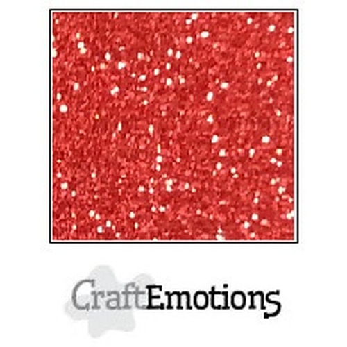 CraftEmotions glitterpapier 5 vel kerstrood 29x21cm 120gr