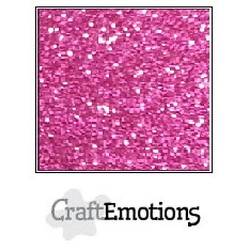 CraftEmotions glitterpapier 5 vel cyclaam 29x21cm 120gr