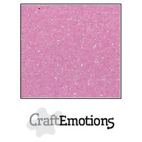 CraftEmotions glitterpapier 5 vel roze 29x21cm 120gr