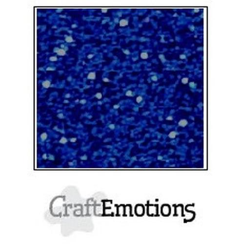 CraftEmotions glitterpapier 5 vel blauw 29x21cm 120gr