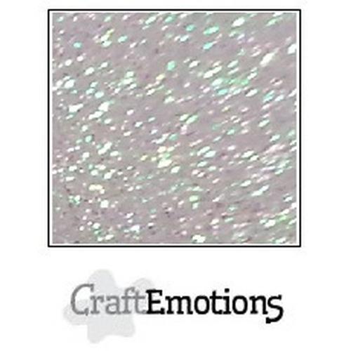 CraftEmotions glitterpapier 5 vel babyblauw 29x21cm 120gr