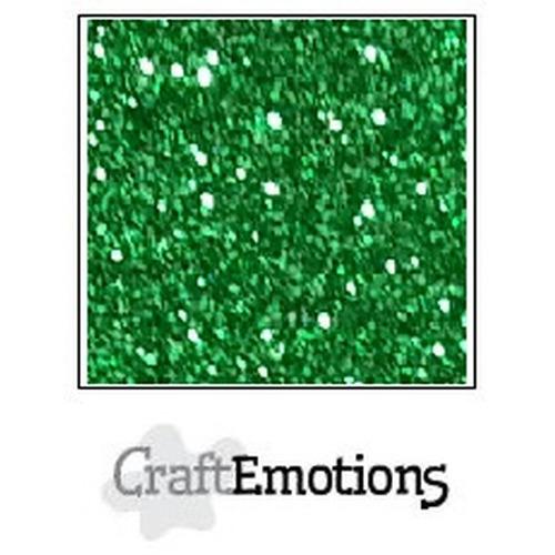 CraftEmotions glitterpapier 5 vel kerstgroen 29x21cm 120gr