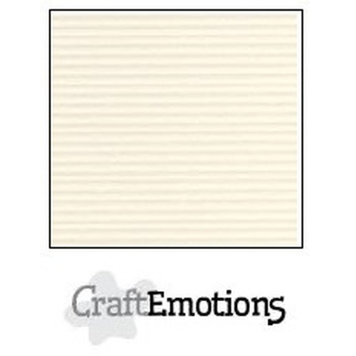 CraftEmotions krijtstreep karton 10 vel ivoor A4 250gr