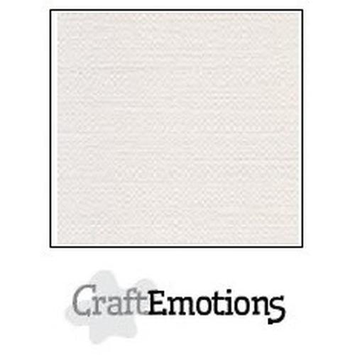 CraftEmotions canvas karton 10 vel wit A4 250gr