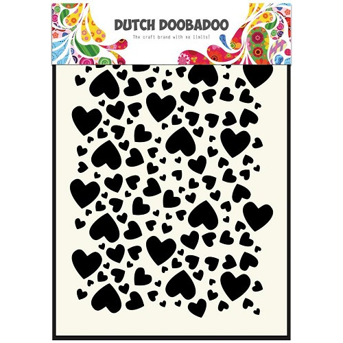 Dutch Doobadoo Dutch Mask Art stencil hartjes A5