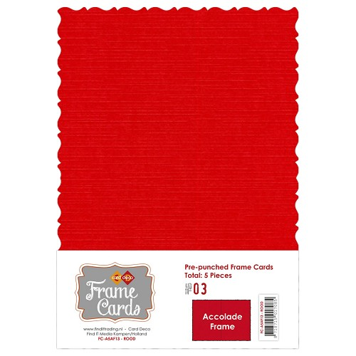Frame Cards - Accolade - A5 - Rood