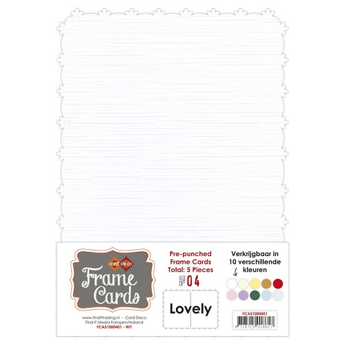 Frame Cards - Lovely - A5 - Wit