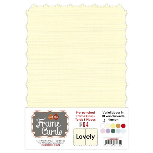 Frame Cards - Lovely - A5 - Creme