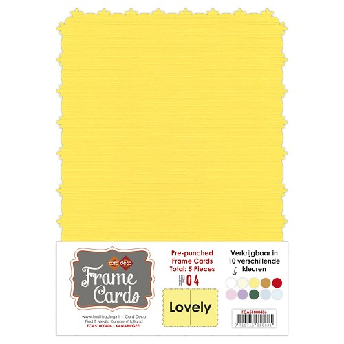 Frame Cards - Lovely - A5 - Kanarie geel