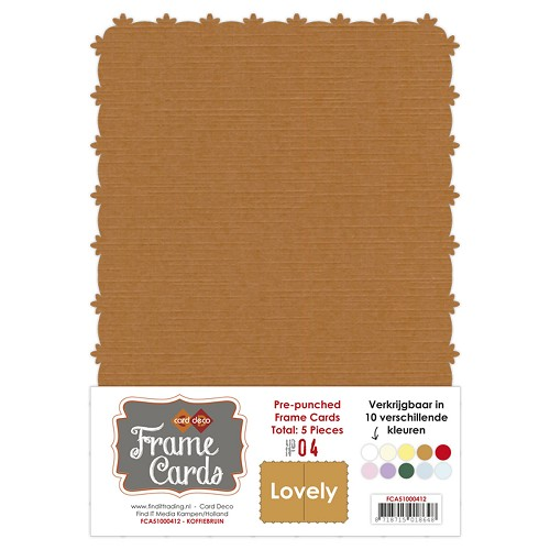 Frame Cards - Lovely - A5 - Koffiebruin