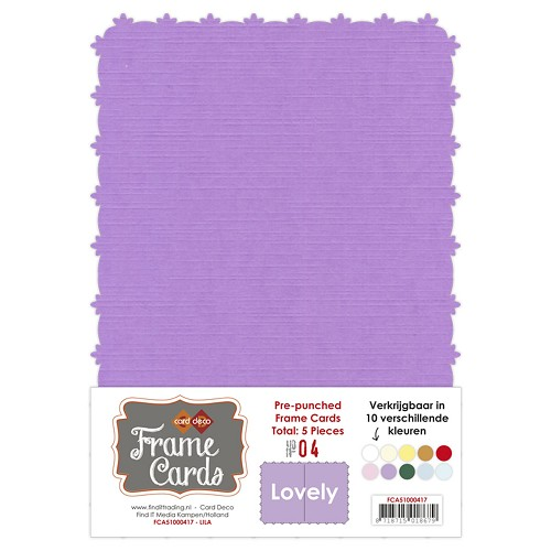 Frame Cards - Lovely - A5 - Lila