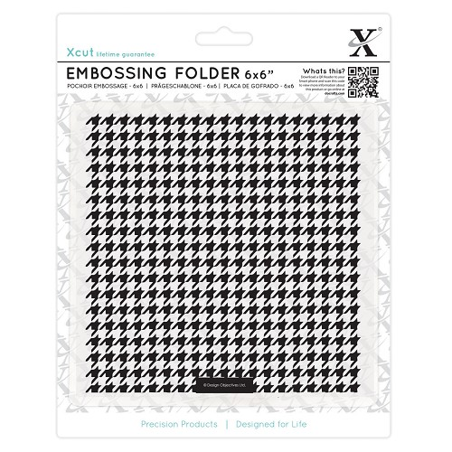 6 x 6 Embossing Folder - Dogtooth Pattern