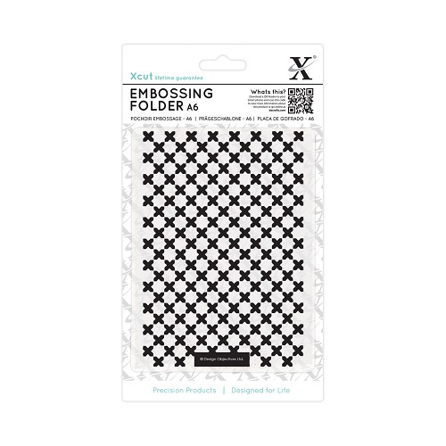 A6 Embossing Folder - Moroccan Cross Tiles