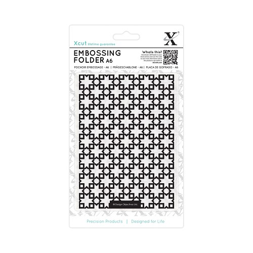 A6 Embossing Folder - Moroccan Star Tiles