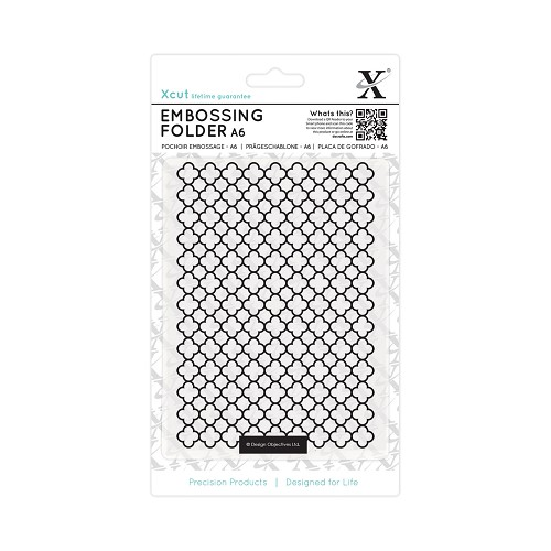 A6 Embossing Folder - Moroccan Flower Tiles