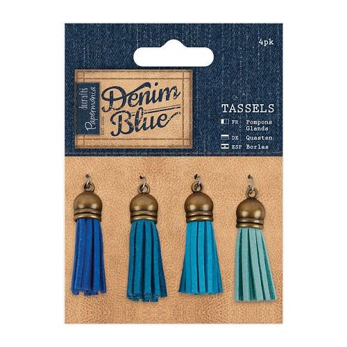 Tassels (4pk) - Denim Blue