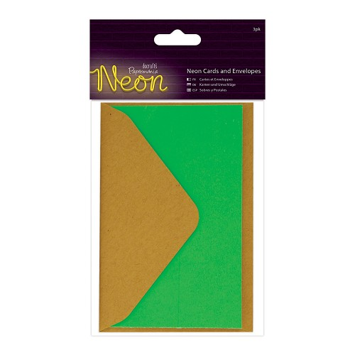 Cards and Envelopes (3pk) - Neon Green
