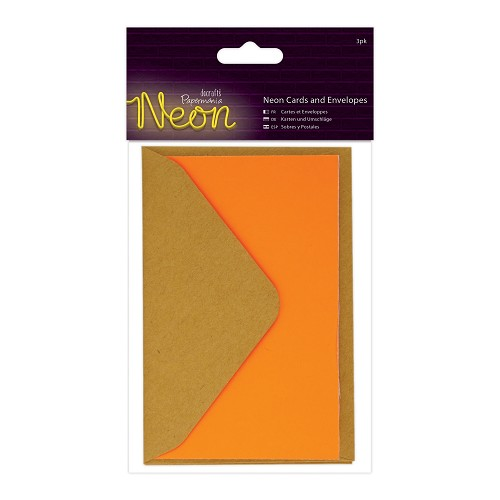 Cards and Envelopes (3pk) - Neon Orange