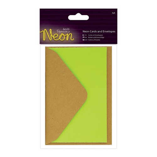 Cards and Envelopes (3pk) - Neon Yellow