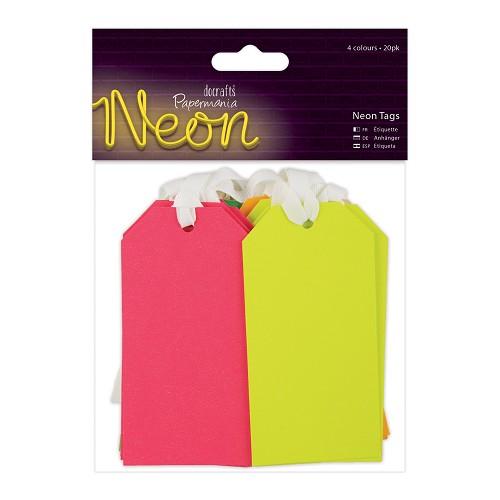 Tags (20pk) - Neon