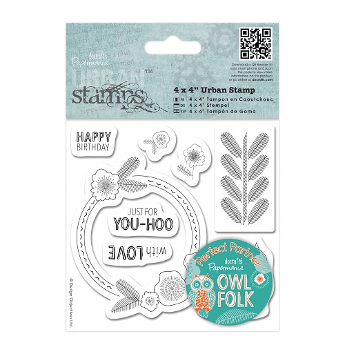 4 x 4 Urban Stamp - Owl Folk - Sentiments
