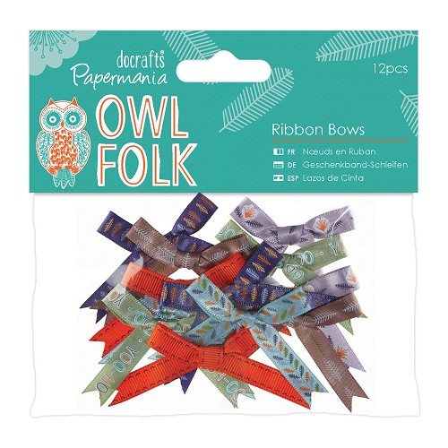 Ribbon Bows (12pcs) - Owl Folk