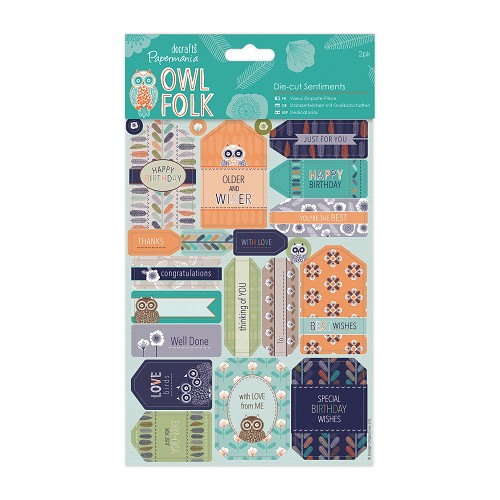 Die-cut Sentiments (2pk) - Owl Folk