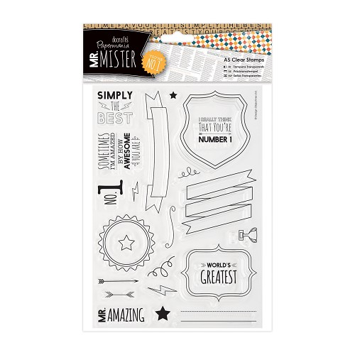 A5 Clear Stamps Set (24pcs) - Mr Mister - Text