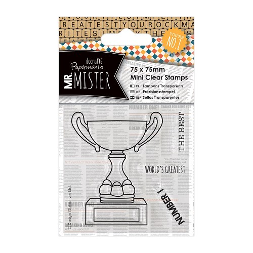 75 x 75mm Mini Clear Stamp (4pcs) - Mr Mister - Trophy