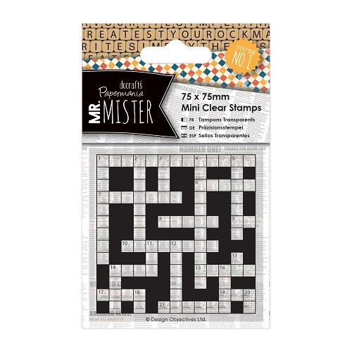 75 x 75mm Mini Clear Stamp (1pc) - Mr Mister - Crossword