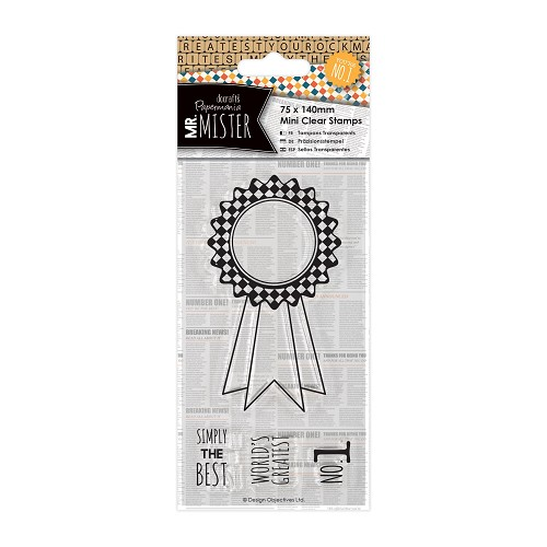 75 x 140mm Mini Clear Stamp (4pcs) - Mr Mister - Rosette