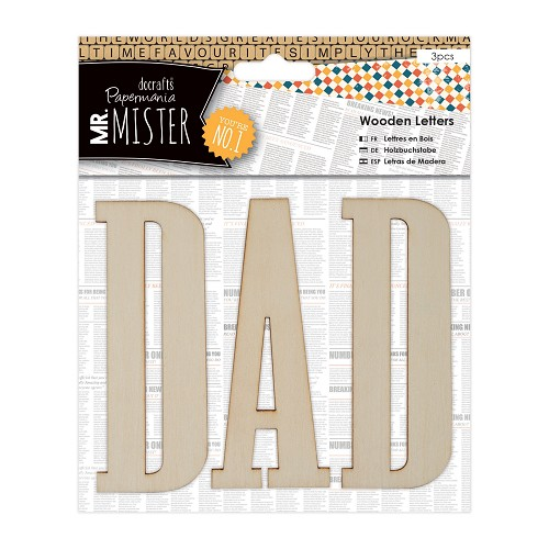 Wooden Letters (3pcs) - Mr Mister - DAD