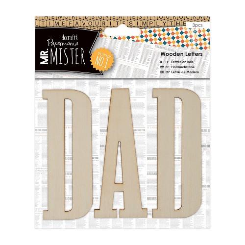 Wooden Letters (3pcs) - Mr Mister - DAD