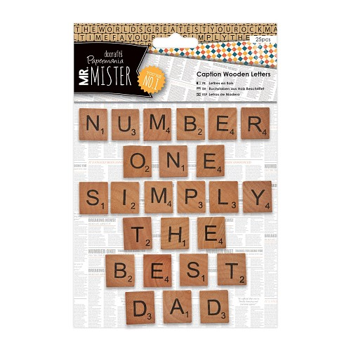 Caption Wooden Letters (25pcs) - Mr Mister